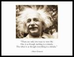 Image of Albert Einstein's Two Ways to View Life