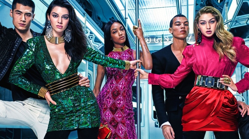 Image from Balmain x H&M campaign
