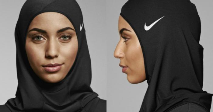 Image of woman in nike Hijab