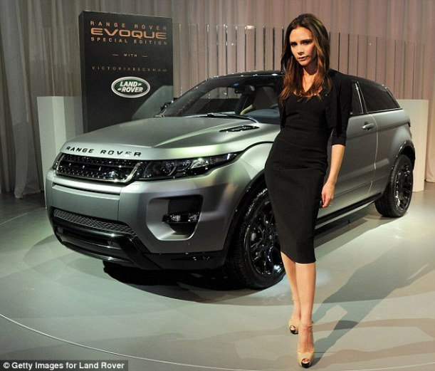Victoria Beckham and Range Rover Evoque